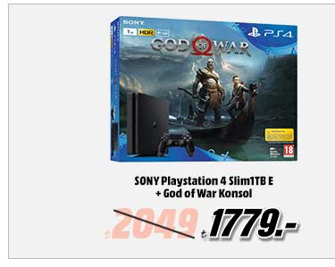 SONY Playstation 4 Slim1TB E + God of War Konsol 1779TL