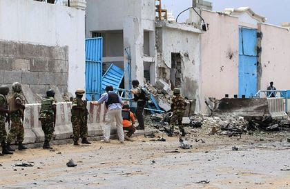 United Nations compound in Mogadishu which was bombed on June 18, 2013. The action was claimed by Al-Shabaab. by Pan-African News Wire File Photos