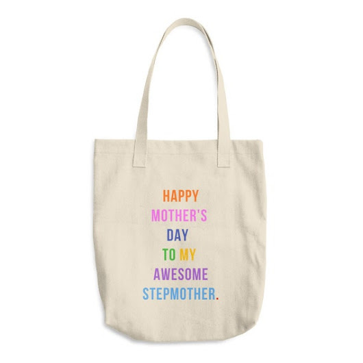 Stepmother Mother's Day Reusable Grocery Tote