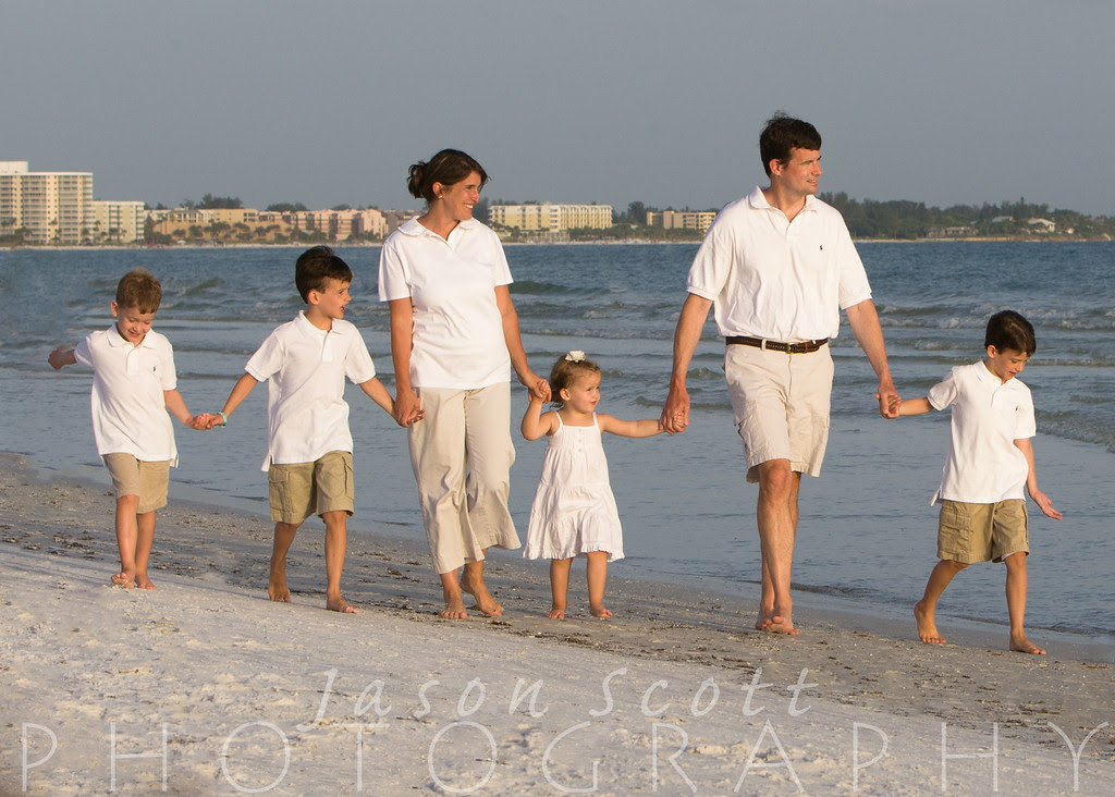 Kiley Family on Siesta Key, August 2012