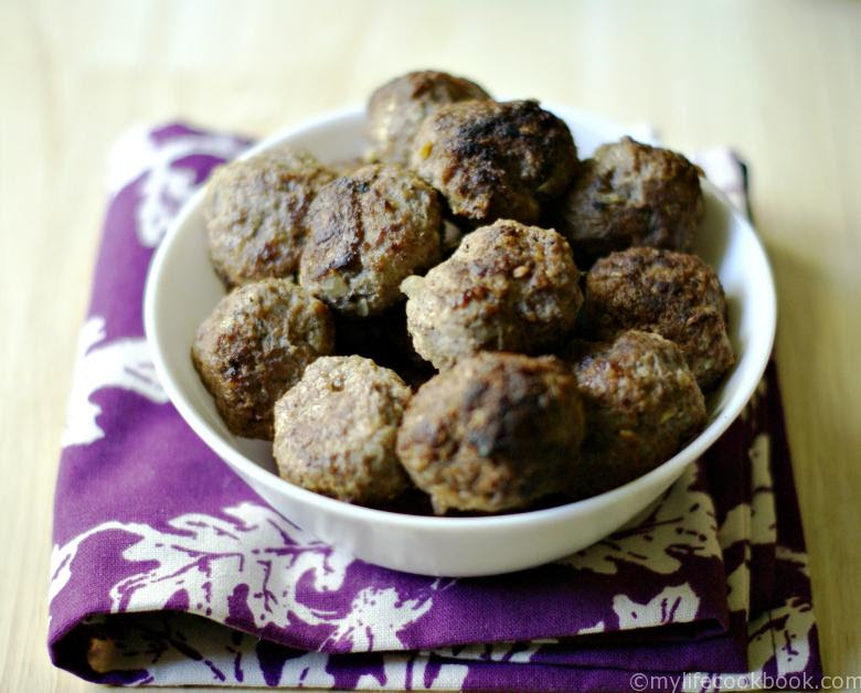 These Paleo Middle Eastern meatballs taste like kibbeh using cauliflower instead of cracked wheat. Perfect Paleo appetizer or snack when you crave kibbeh.