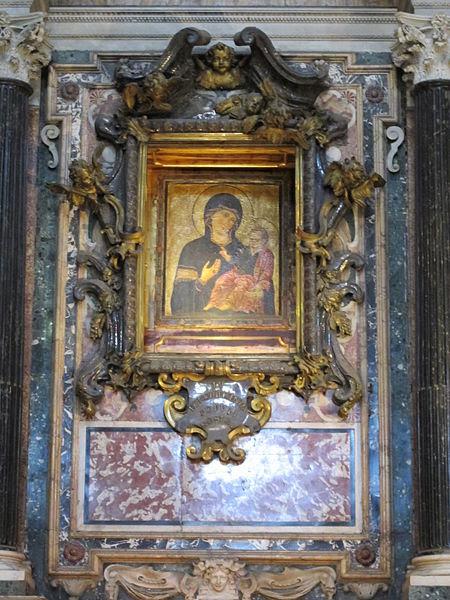 Fil: Santa Maria av folket, 03 högaltaret av Madonna popolo.JPG