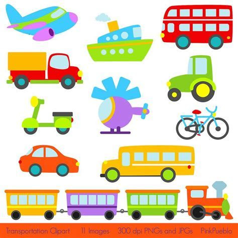 Transportation Clip Art Clipart with Car, Truck, Train