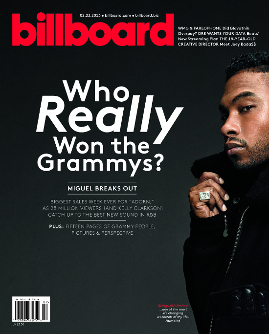 Billboard (2/23/13), Miguel