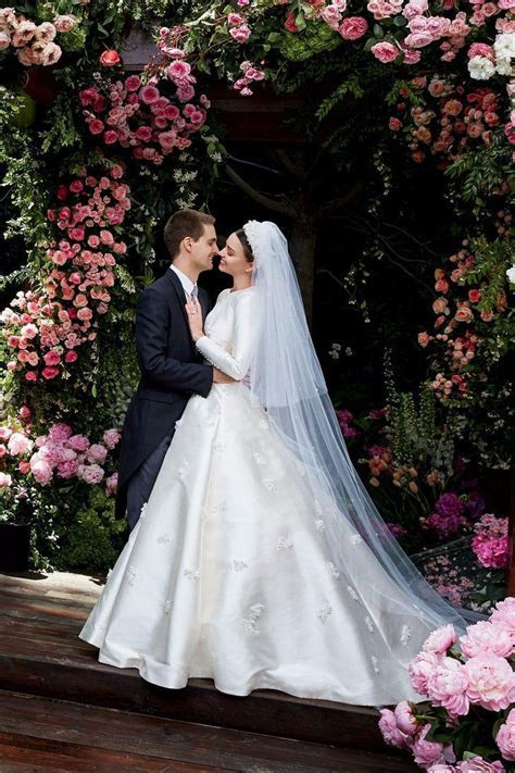 Miranda Kerr's Timeless Dior Wedding Dress Was Inspired by