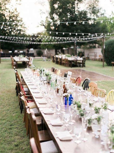 beautiful backyard weddings  real homes