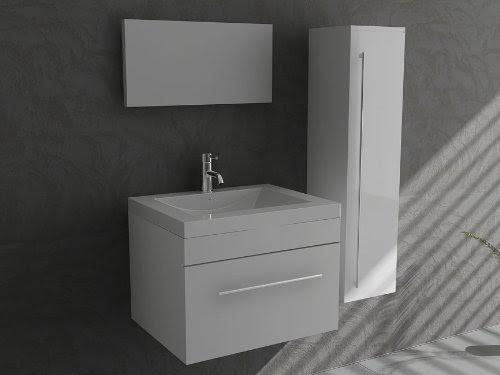 badm bel mika 600 weiss waschtisch badezimmer m bel g ste wc m bel einrichtung f r s. Black Bedroom Furniture Sets. Home Design Ideas