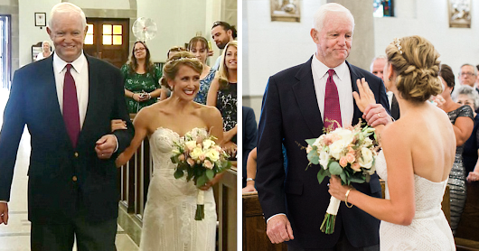 Bride Walked Down The Aisle By Man Who Received Her Father's Heart (He Was Murdered 10 Years Ago)