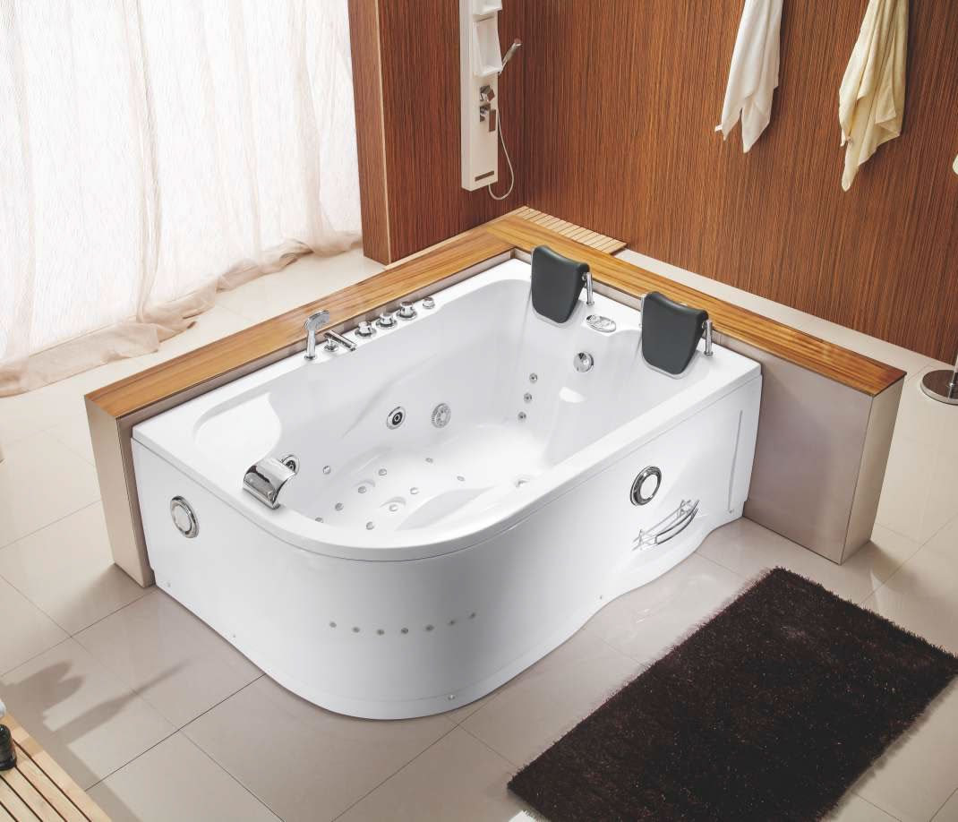 Two 2 Person Indoor Whirlpool Hot Tub Jacuzzi Massage Bathtub
