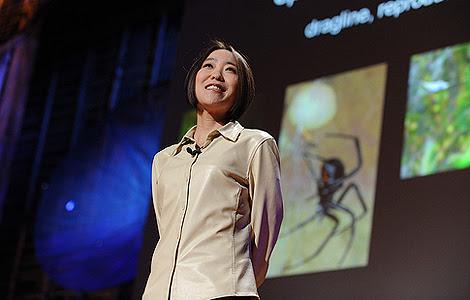 Cheryl Hayashi, 'la mujer araña'. | J. Duncan - TED