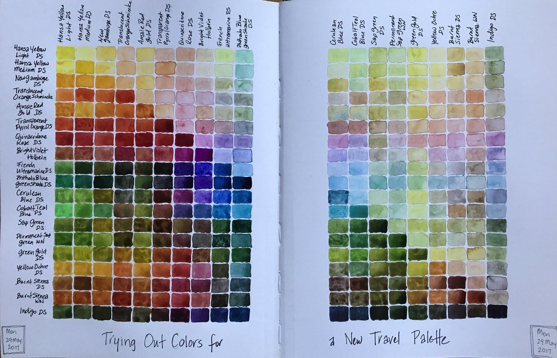 Ochre Color Chart