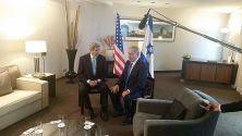 US Secy of State John Kerry meets with PM Benjamin Netanyahu in Berlin.