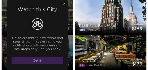 HotelTonight introduces rate tracking and brings back tabs in latest iOS update