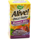 Alive! Once Daily Women's 50+ Multi Ultra Potency By Nature's Way - 60 Tablets