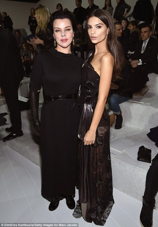 Goodfella: The amply-charmed beauty also posed for a picture with Younger actress Debi Mazar, also rocking head-to-toe black