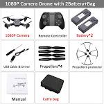 Visuo XS816 RC Drone with 50 Times Zoom WiFi FPV 4K Dual Camera Optical Flow Quadcopter Foldable Selfie Dron VS SG106 M70 Set8 1080P 2BAT CB / CHINA
