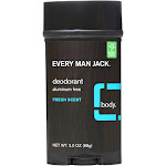 Every Man Jack Body Deodorant - Fresh Scent - 3 Ounce -PACK 3