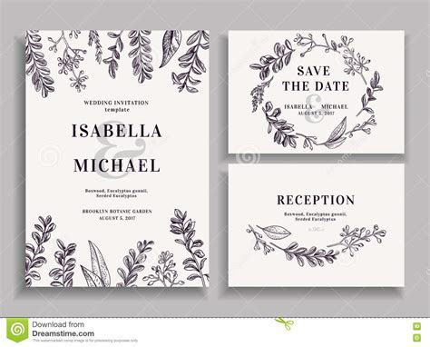 Invitation, Save The Date, Reception Card. Stock Vector
