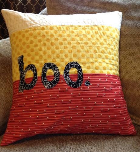 Halloween pillow for Wyatt