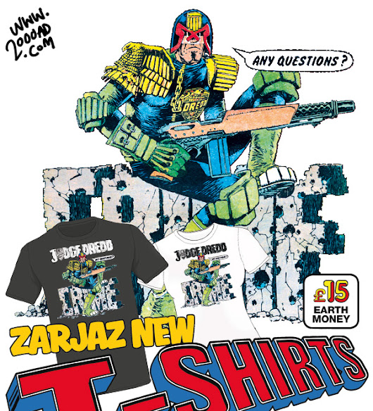 Crime is the problem, he is the solution! Order the new Judge Dredd T-shirt now!