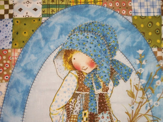 HOLLY  HOBBIE  CHILD  2 Quilted Room Decor Wall by SewNSewSister