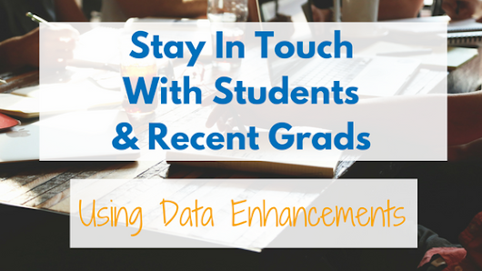 Stay In Touch With Students And Recent Grads -
