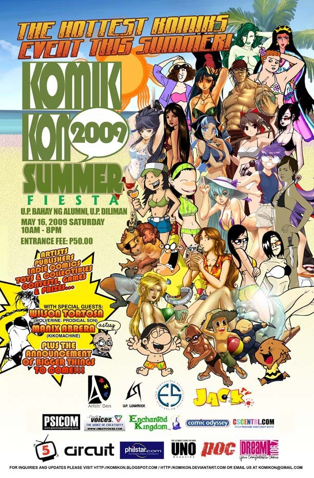 Komikon Summer Fiesta 2009 and comics/merchandise checklist