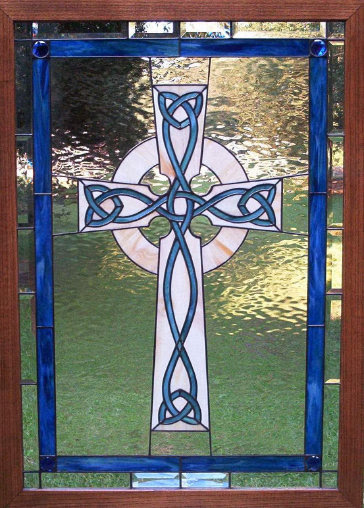 Corinne And Kyles Cross Stained Glass Window Deans Stained Glass