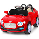 Gymax 6V Kids Ride On Car Electric Battery Power RC Remote Control & Doors w/ MP3 Red