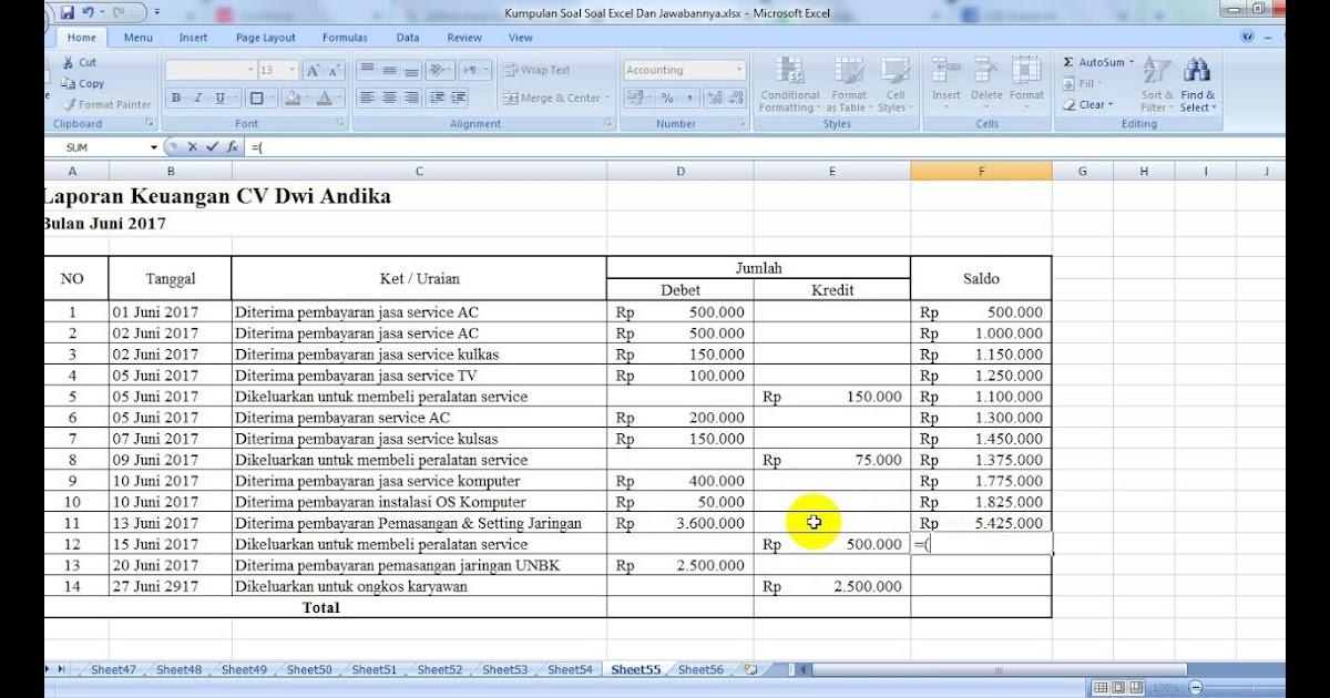 Contoh Laporan Keuangan Pemasukan Dan Pengeluaran Excel Kumpulan Contoh Laporan
