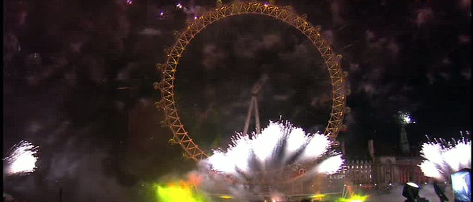 ENGLAND: The London Eye was a focal point for the fireworks