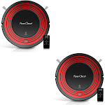 PureClean PUCRC95.5 Programmable Robot Vacuum Home Cleaning System, Red (2 Pack) by VM Express