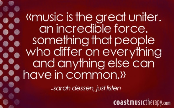 Music Puts The Pieces Together Music Therapy Quotes