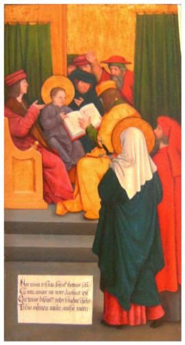 Twelve-year-old Jesus in the Temple - Bernhard Strigel