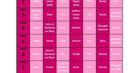 piyo basic workout calendarpdf google drive fitness