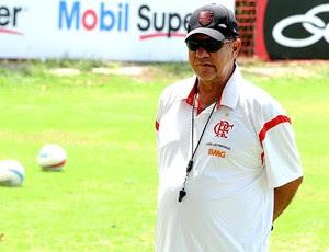 Joel Santana no treino do Flamengo (Foto: Alexandre Vidal / Fla Imagem)