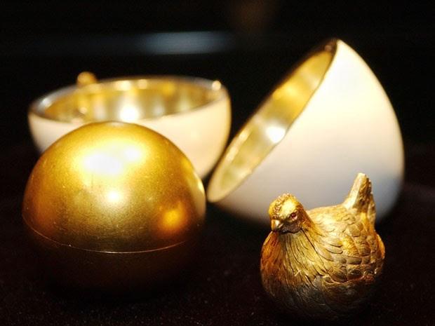 O Ovo de Galinha, primeiro feito por Fabergé (Foto: Stan Honda/AFP)