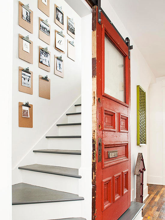 Barn door and chanageable clipboard photo gallery BHG