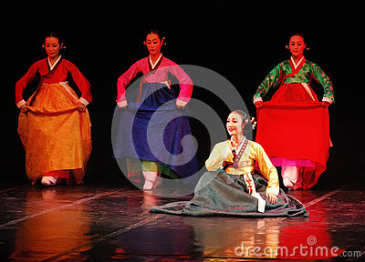 Performance Of Busan Korean Traditional Dance Editorial Stock Image  Image: 32646964