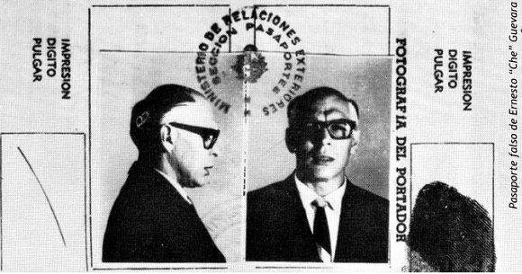 Pasaporte de Che bajo el nombre de Ramón Benítez. Foto: Archivo.