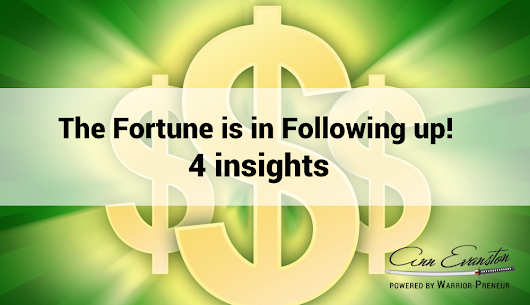 The Fortune is in Following up! 4 Insights for Your Business | Small Business Marketing Tools