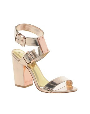 Image 1 of Ted Baker Lissome Metallic Strap Sandals