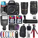 Nikon D610 DSLR + AFS 24-70mm 2.8G + Tamron 70-300mm + Slave Falsh - 48GB Kit