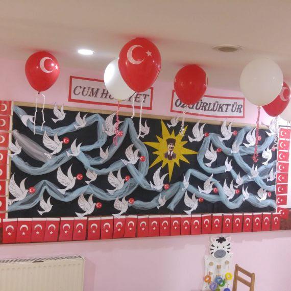 Ana Sınıfları 29 Ekim Cumhuriyet Bayramı Panosu Eğitim Bilişim Ağı