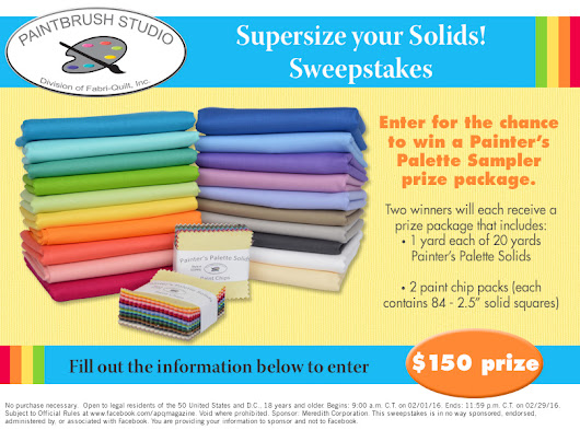 Supersize your Solids Sweepstakes
