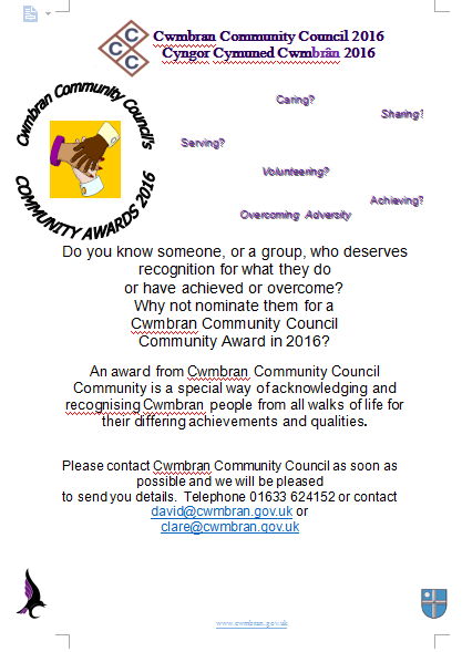 Cwmbran Community Council Awards