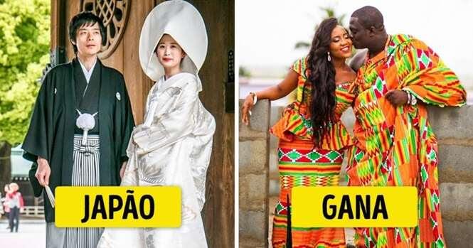 Como são os vestidos de noiva em diferentes lugares do planeta