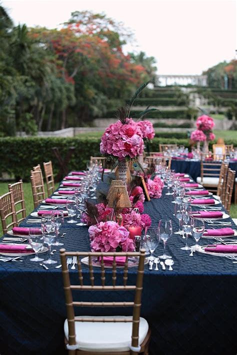 Your Wedding in Colors: Navy Blue and Pink   Arabia Weddings