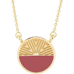 Gold Necklaces - Colorblock Necklace - Gifts for Mom - Bridesmaid Gifts - Anniversary Gift for Her - Graduation Gifts for Her