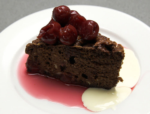 Chocolate and cherry ricotta cake